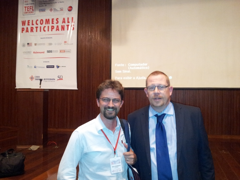 Klaus and Shaun Wilden at the CTJ Tefl Conference 2013